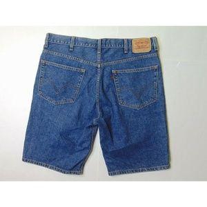 Levis 505 38 Regular Fit Jean Shorts Denim Cotton
